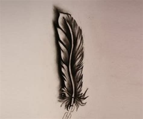 3d dark feather tattoo design tattoos book 65 000