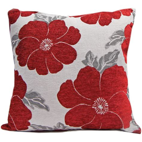 large sofa cushion covers chenille poppy cushions large small floral sofa bed