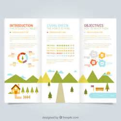 Free Leaflet Template Psd by Ecological Leaflet Template Vector Free