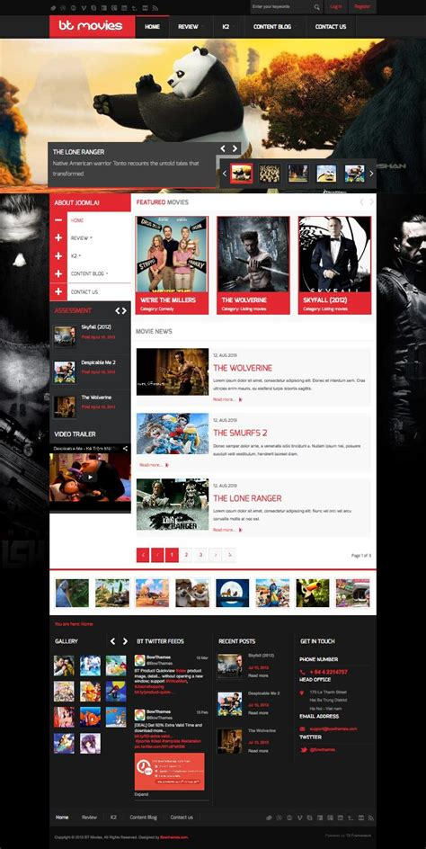 blogger templates for movie reviews bt movies joomla movie review rating template