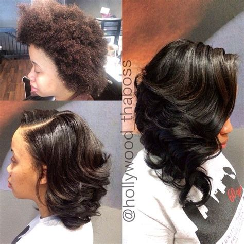 perm on leave out for sewin asymmetrical long curly bob sew in on natural hair no