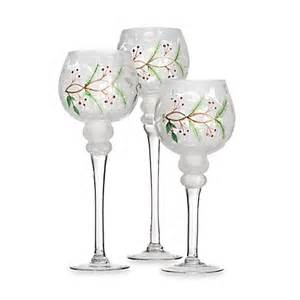 Set Of 3 Hurricane Candle Holders Manor Frosted Glass Hurricane Candle Holders Set