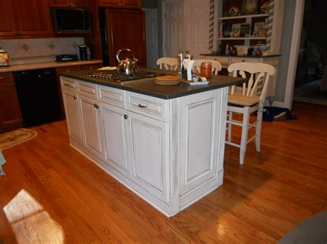 narrow kitchen island cabinets on stylish kitchen island