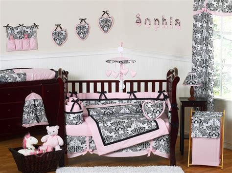 Pink Black Crib Bedding Pink And Black Crib Bedding 9pc Crib Set Only 189 99