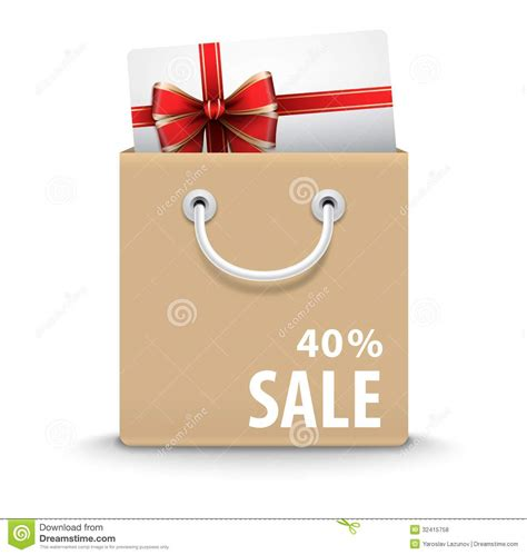 Text Gift Cards - shopping bag with gift card and discount text royalty free stock photos image 32415758