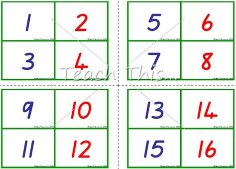 printable flash cards numbers 7 best images of printable number flash cards 1 100