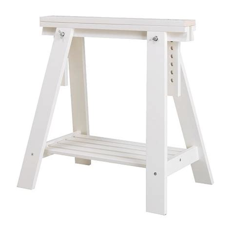 Finnvard Trestle With Shelf by Finnvard Trestle With Shelf White