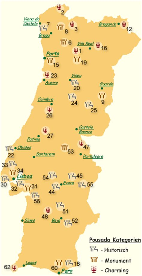 portugal pousadas map pousadas portugal pousada rundreisen individuell
