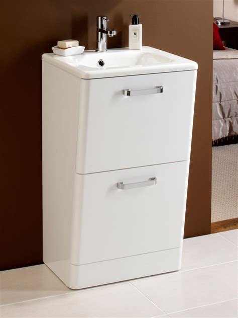 Floor Standing Vanity Unit by Hib Palamas Floor Standing Vanity Unit And Basin 500mm White