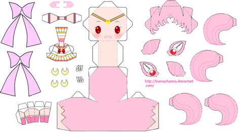 Sailor Moon Papercraft - sailor chibi moon papercraft by bunnycharms on deviantart