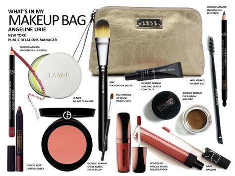 12 Things To In Your Make Up Bag by What S In Your Makeup Bag Angeline Urie Beauteschool