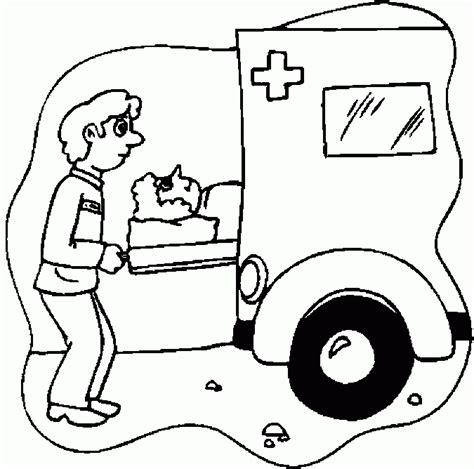 ambulance coloring pages coloringpagesabc com