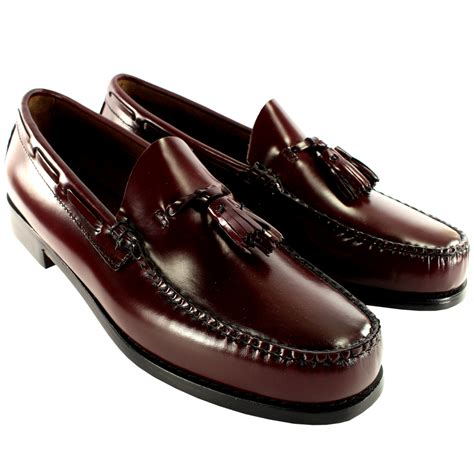 bass shoes loafers mens g h bass larkin slip on tassel smart loafer