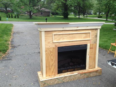 woodworking build a fireplace surround for electric