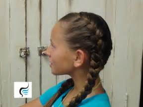 How to do tight double french braid girls hairstyles youtube