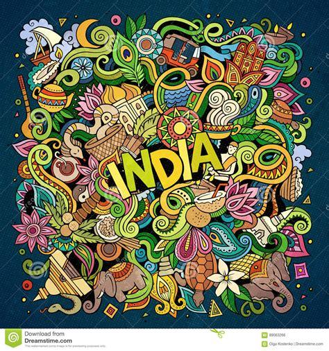 doodle india doodles india illustration stock