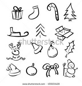 Bow Window Ideas christmas simple objects cartoon sketch collection stock