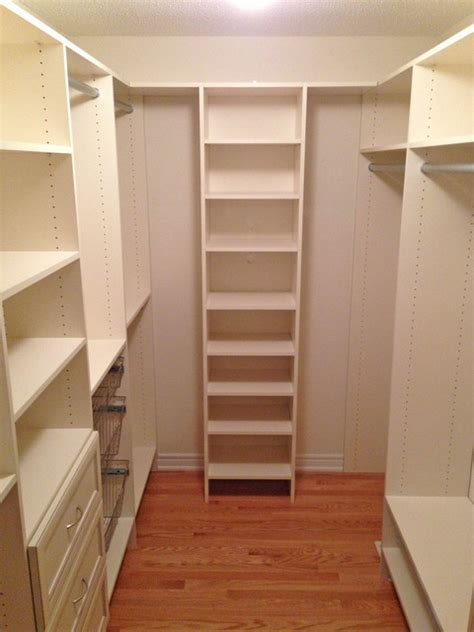 Narrow Closet Ideas by Walk In Closet After Traditional Closet Toronto By Tailored Living Of Richmond Hill