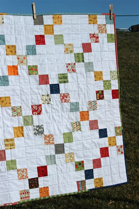 Nine Patch Quilt by Baby Quilt Nine Patch Quilt Quilted Wee Play