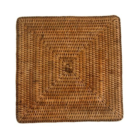 Place Mats by Square Rattan Placemats