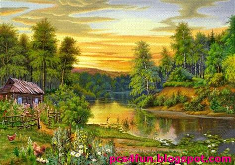 Lukisan Paintings Nature collection of amazing pictures beautiful drawings nature