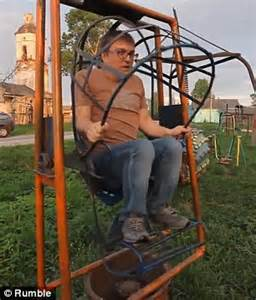 dangerous swing is this playground in tver russia the world s most