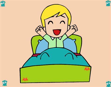 imagenes de getting up dibujo de hora de levantarse pintado por en dibujos net el