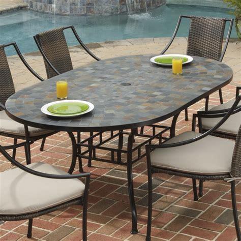oval dining table shape black steel cushion harbor