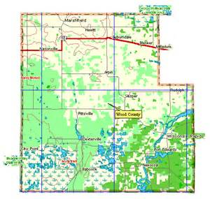 wood county map