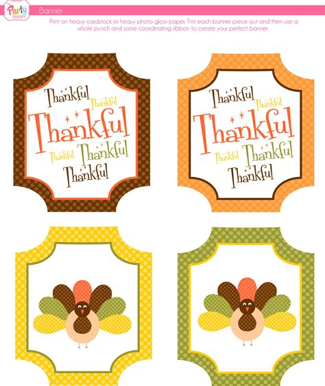 printable free thanksgiving banner free thanksgiving printables from the party bakery catch