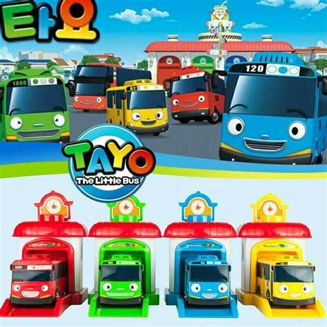 Mainan Mobil Tayo 4 Pcs Tayo Tayo jual mainan tayo garasi kingdom toyss