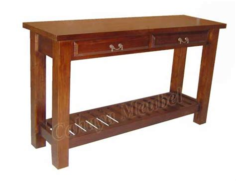 Meja Jati Jepara meja konsul modern kayu jati jepara meja konsul jati cahaya mebel jepara