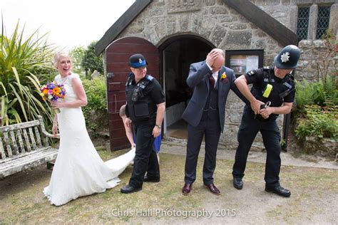 Wedding Arrested by Photos Of Groom Being Arrested At His Wedding Go Viral