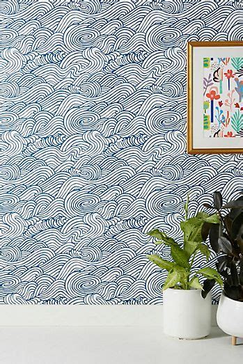 abstract geometric wallpaper anthropologie waves