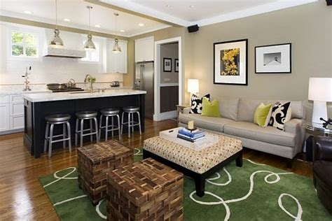 modern kitchen family room ideas contemporary family room with kitchen island and bar stools