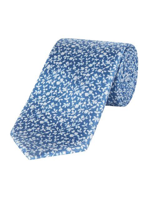 Floral Print Tie jaeger floral print tie in blue for lyst