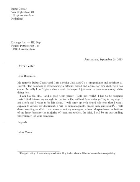 how to write a standard cover letter cover letter with style part one minimalia