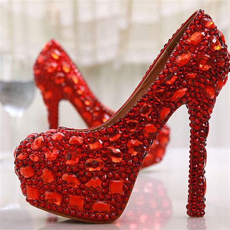 high heels with diamonds wholesale rhinestone 14cm high heels