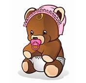 Cute Baby Brown Cartoon Bears Clip Art Images