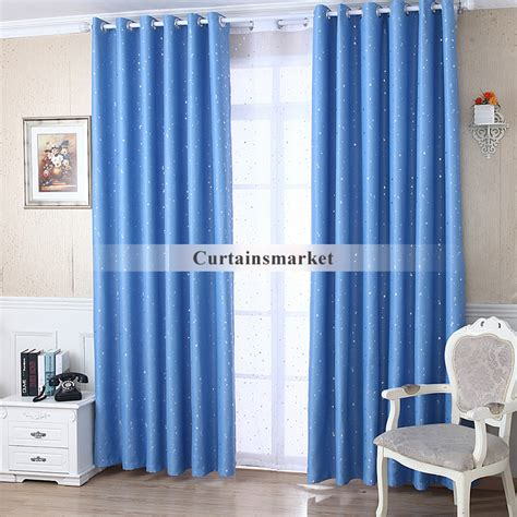 blue curtains blackout sky blue blackout kids primitive star curtains