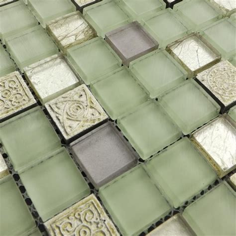 green mosaic tiles bathroom home improvement light green glass mosaic tiles glass
