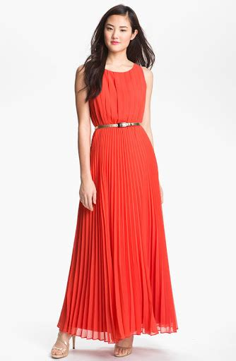 One Shoulder Maxi Tosca my dresses eliza j pleated chiffon maxi dress orange