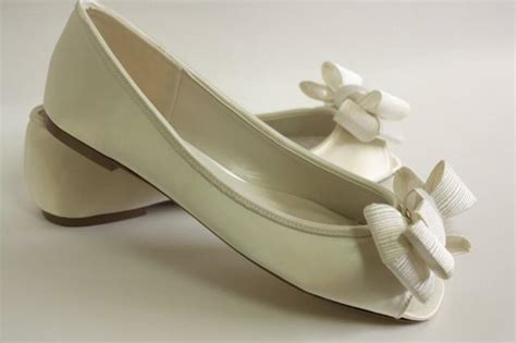 dyeable wedding shoes flats ivory wedding shoes flats large bows choose from 100