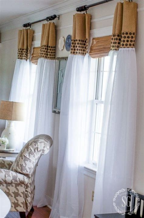 upgrade white curtains best 25 cheap window treatments ideas on pinterest home
