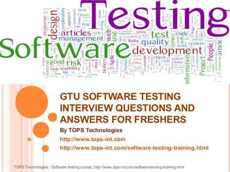gtu software testing questions and answers for freshers