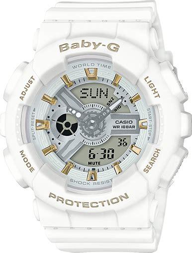 Casio Baby G Ba 110 Black White ba110ga 7a1 baby g ba 110 series womens watches