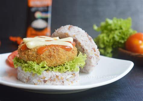 diah didis kitchen burger nasi kongbap isi daging tempe
