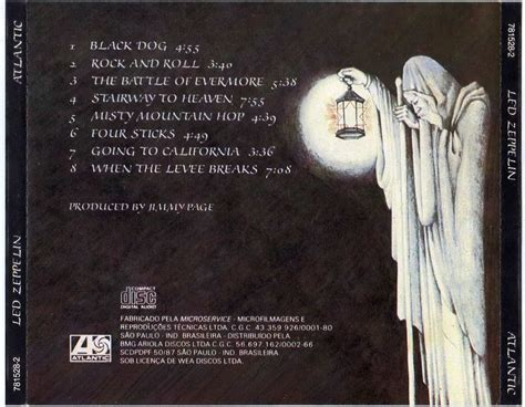 Cd Led Zeppelin cd led zeppelin led zeppelin iv cd original r 25 00