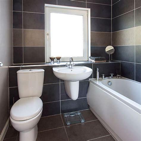 Black and white bathroom   Small bathroom design ideas   Decorating   housetohome.co.uk