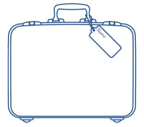 suitcase template get inspired with biography research part 2 project